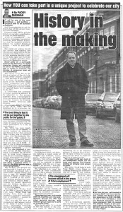 In the newspaper in Liverpool, 1999